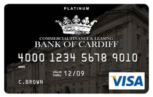 Bank of Cardiff Platinum Black Card